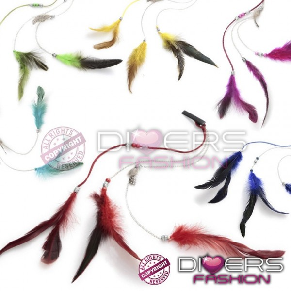Feather Extension Plume Bleu