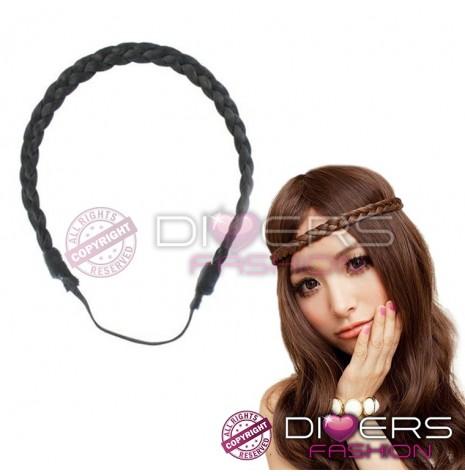 Headband tressé NOIR -50%