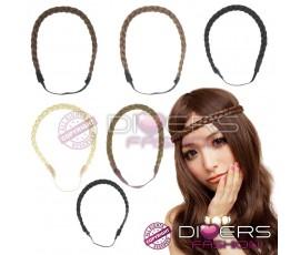 Headband trançado - loiro escuro