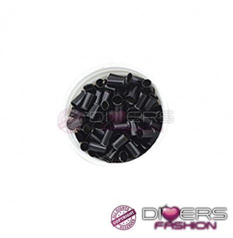 Mega anilhas para colocar extensões de cabelo - preto