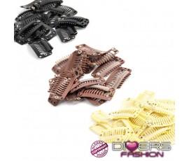 Clips / ganchos de substituição ou para tissagem - prata