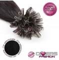 Extensões de queratina cabelo liso cor Nº1