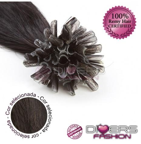 Extensões de queratina cabelo liso cor Nº2