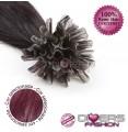 Extensões de queratina cabelo liso cor Nº99J
