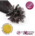 Extensões de queratina cabelo liso cor AMARELO