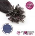 Extensões de queratina cabelo liso cor AZUL