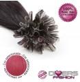 Extensões de queratina cabelo liso cor ROSA