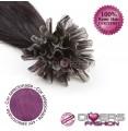 Extensões de queratina cabelo liso cor ROXO