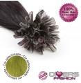 Extensões de queratina cabelo liso cor VERDE