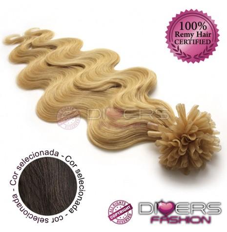 Extensões de queratina cabelo ondulado cor Nº2