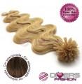 Extensões de queratina cabelo ondulado cor Nº6