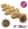 Extensões de queratina cabelo ondulado cor Nº8