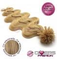 Extensões de queratina cabelo ondulado cor Nº16