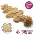 Extensões de queratina cabelo ondulado cor Nº24