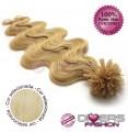 Extensões de queratina cabelo ondulado cor Nº613
