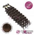 Extensões de queratina cabelo crespo cor Nº6