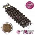 Extensões de queratina cabelo crespo cor Nº8