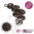 Extensões anilhas LOOP cabelo ondulado cor Nº2