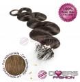 Extensões anilhas LOOP cabelo ondulado cor Nº8