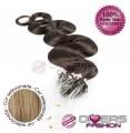 Extensões anilhas LOOP cabelo ondulado cor Nº16