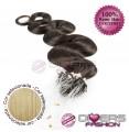 Extensões anilhas LOOP cabelo ondulado cor Nº24