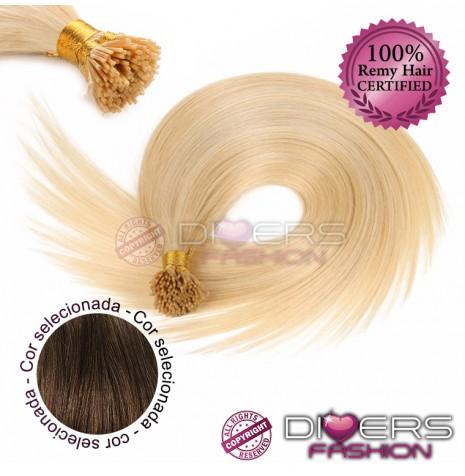 Extensões anilhas ponta em I cabelo liso cor Nº6