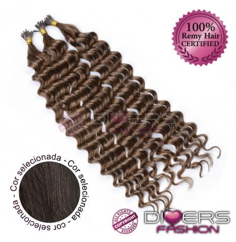 Extensões anilhas ponta em I cabelo crespo cor Nº2