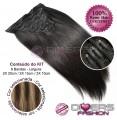Extensões CLIPS / TICTAC cabelo liso kit 6 bandas - cor MADEIXA Nº6/16