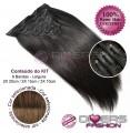 Extensões CLIPS / TICTAC cabelo liso kit 6 bandas - cor CALIFORNIANA Nº6/8