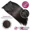 Extensões CLIPS / TICTAC cabelo liso kit 6x8 bandas - cor Nº2