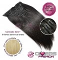 Extensões CLIPS / TICTAC cabelo liso kit 6x8 bandas - cor Nº24