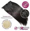 Extensões CLIPS / TICTAC cabelo liso kit 6x8 bandas - cor Nº613