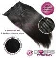 Extensões CLIPS / TICTAC cabelo liso kit 8x8 bandas - cor Nº1