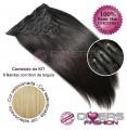 Extensões CLIPS / TICTAC cabelo liso kit 8x8 bandas - cor Nº24