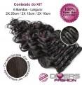 Extensões CLIPS / TICTAC cabelo ondulado kit 6 bandas - cor Nº2