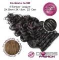 Extensões CLIPS / TICTAC cabelo ondulado kit 6 bandas - cor Nº8