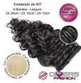 Extensões CLIPS / TICTAC cabelo ondulado kit 6 bandas - cor Nº613