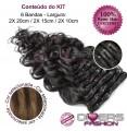 Extensões CLIPS / TICTAC cabelo ondulado kit 6 bandas - cor MADEIXA Nº6/8