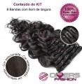 Extensões CLIPS / TICTAC cabelo ondulado kit 8 bandas - cor Nº2