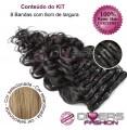 Extensões CLIPS / TICTAC cabelo ondulado kit 8 bandas - cor Nº16