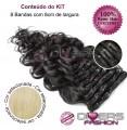 Extensões CLIPS / TICTAC cabelo ondulado kit 8 bandas - cor Nº613