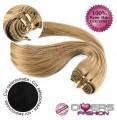 Extensões tissage em banda cabelo liso cor Nº1