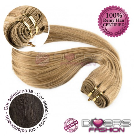 Extensões tissage em banda cabelo liso cor Nº2