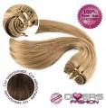 Extensões tissage em banda cabelo liso cor Nº6