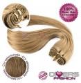 Extensões tissage em banda cabelo liso cor Nº8