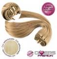 Extensões tissage em banda cabelo liso cor Nº613