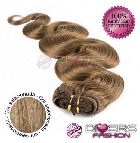 Extensões tissage em banda cabelo ondulado cor Nº16