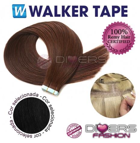 Extensões fita adesiva TAPE cabelo liso - cor Nº1