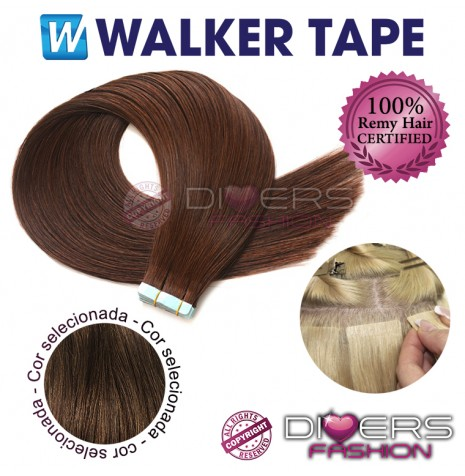 Extensões fita adesiva TAPE cabelo liso - cor Nº6