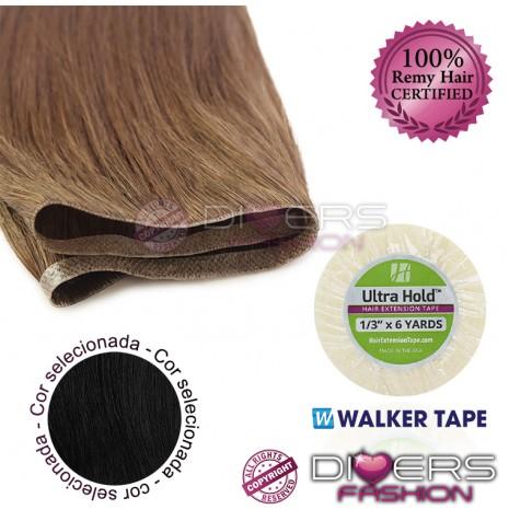 Extensões adesivas skinweft cabelo liso cor Nº1